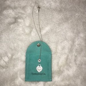 Tiffany and Co heart tag pendant with pouch